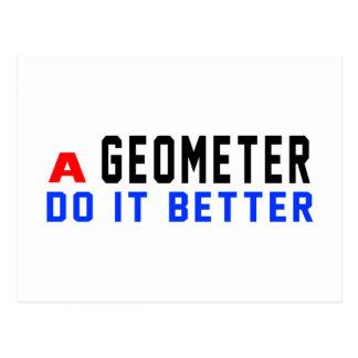 A Geometer Do It Better Postcard