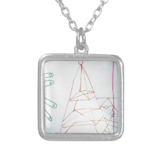 A Geometers Glass Bead Game Silver Plated Necklace
