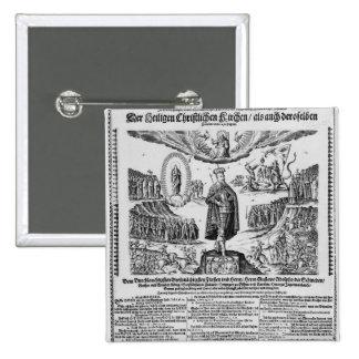 A German broadsheet depicting Adolphus Champion Button