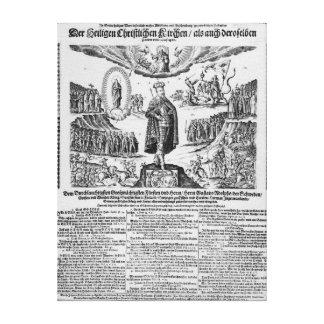 A German broadsheet depicting Adolphus Champion Canvas Print