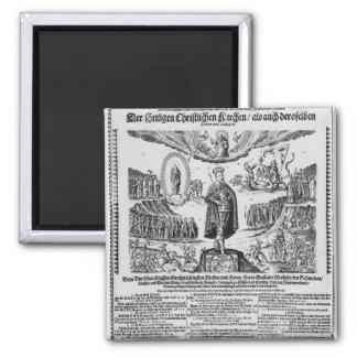 A German broadsheet depicting Adolphus Champion Magnet