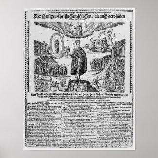 A German broadsheet depicting Adolphus Champion Poster