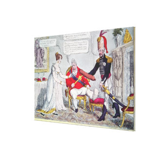 A German Present or the Lover's Token Canvas Print