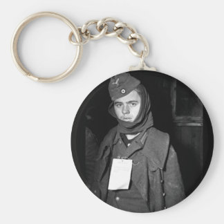 A German prisoner of war captured near_War Image Keychain
