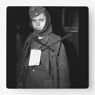 A German prisoner of war captured near_War Image Square Wall Clock