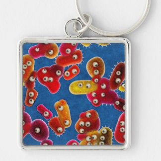 A Germaphobe's Nightmare City of Germs Keychain