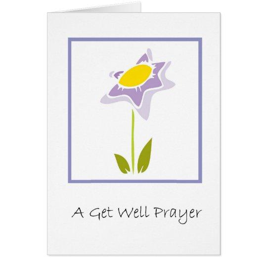 A Get Well Prayer Card