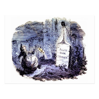 A Ghost in the Graveyard postcard