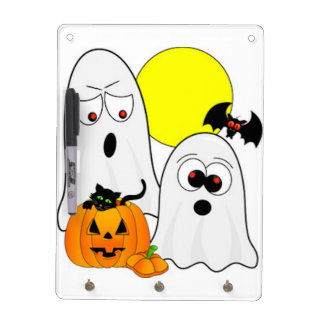 A Ghostly Duo Dry Erase Board