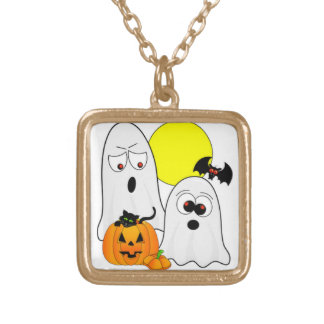 A Ghostly Duo Gold Plated Necklace