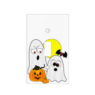 A Ghostly Duo Light Switch Cover
