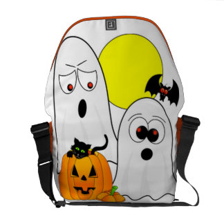 A Ghostly Duo Messenger Bag