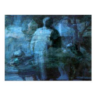A Ghostly Walk in the Dark Postcard