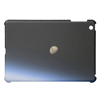 A gibbous moon visible above Earth's atmosphere 2 Case For The iPad Mini
