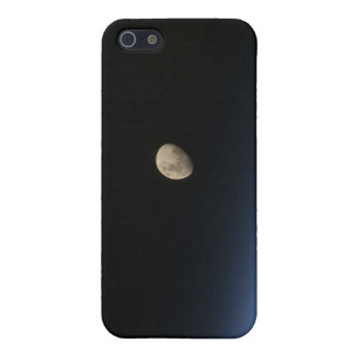 A gibbous moon visible above Earth's atmosphere 2 Cover For iPhone SE/5/5s