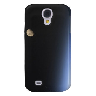 A gibbous moon visible above Earth's atmosphere Samsung Galaxy S4 Case