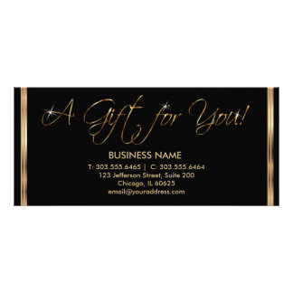 A Gift Certificate - Black and Gold