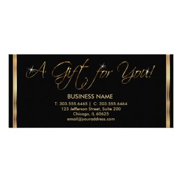 Professional Business A Gift Certificate - Black and Gold
