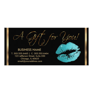 A Gift Certificate Pretty Teal Lipstick Business 2