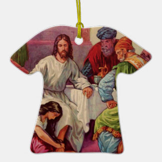 A Gift for Jesus Double-Sided T-Shirt Ceramic Christmas Ornament