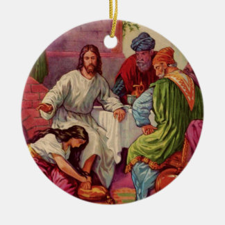 A Gift for Jesus Double-Sided Ceramic Round Christmas Ornament
