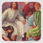 A Gift for Jesus Square Sticker