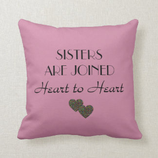 "A Gift For Sister Quote Throw Pillow 16"" x 16"""