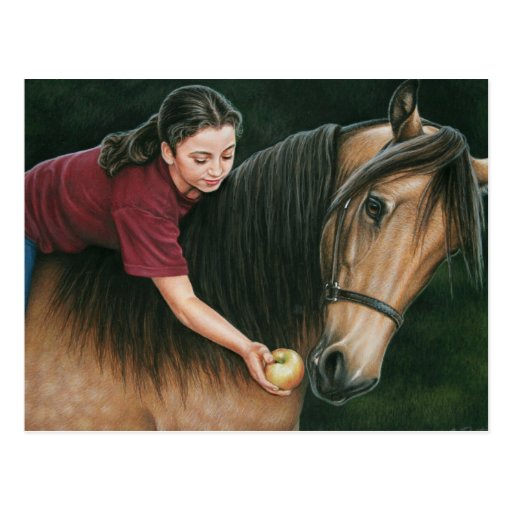 A Gift for Sunny Morgan Horse Art Postcard