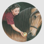 A Gift for Sunny Morgan Horse Art Classic Round Sticker