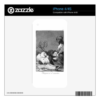 A Gift for the Master by Francisco Goya Decals For iPhone 4S