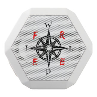 A gift for those who are Wild And Free White Bluetooth Speaker