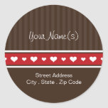 A Gift of Love Address Classic Round Sticker