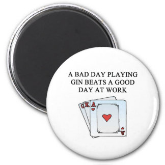 a gin player 2 inch round magnet