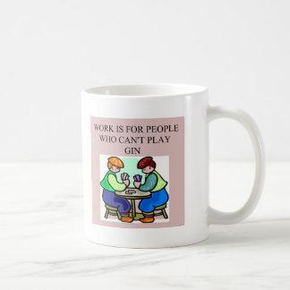 a gin player coffee mug