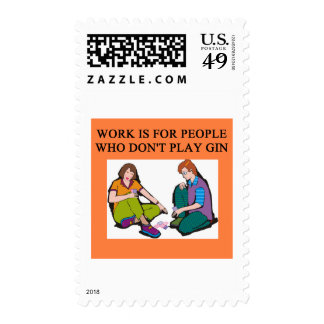 a gin player postage