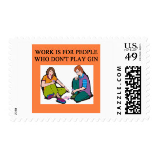 a gin player postage stamps