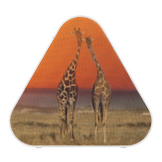 A Giraffe couple walks into the sunset, in Bluetooth Speaker