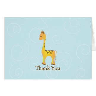 A Giraffe has Manners Greeting Cards