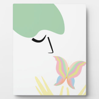 A girl and a butterfly plaque