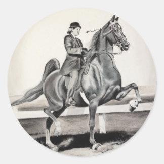 A Girl and A Dream by Linda Dalziel Classic Round Sticker