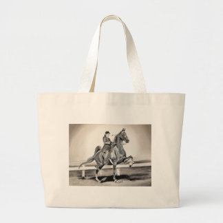 A Girl and A Dream by Linda Dalziel Large Tote Bag