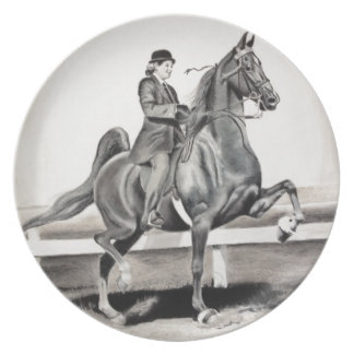 A Girl and A Dream by Linda Dalziel Melamine Plate