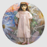 A girl and a seven fairies 2 classic round sticker