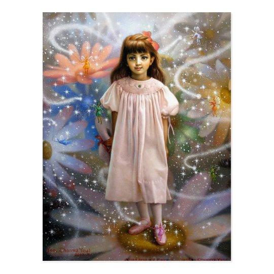 A girl and a seven fairies 2 postcard