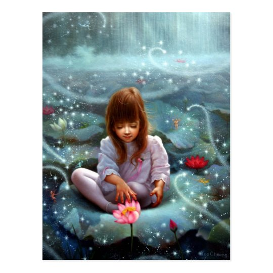 A girl and a seven fairies 3 postcard