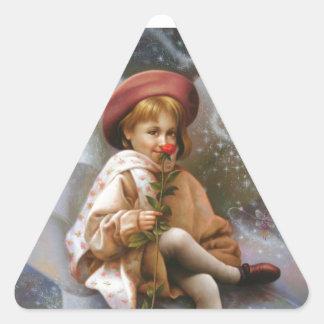 A girl and a seven fairies sticker