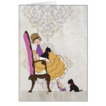 A Girl and Her Dogs Stationery Note Card