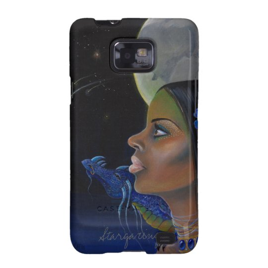A girl and her dragon stargazing galaxy s2 cover