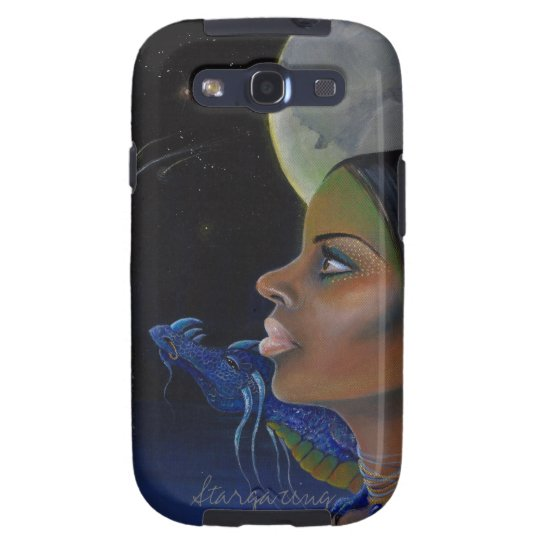 A girl and her dragon stargazing galaxy s3 case