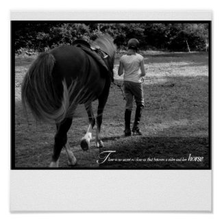 A Girl and her Horse Poster